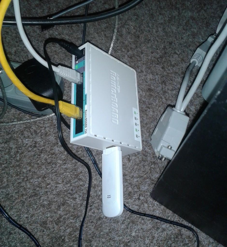 Mikrotik RouterBoard RB750 – usb mod